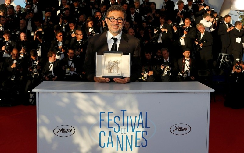 Director Nuri Bilge Ceylan, Palme d'Or award winner for his film ,Winter Sleep,, poses during a photocall at the closing ceremony of the 67th Cannes Film Festival in Cannes May 24, 2014. (Reuters Photo)