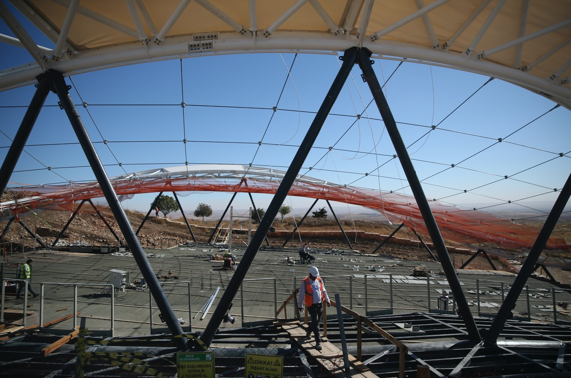 The site has been temporarily closed to visitors due to roof construction.
