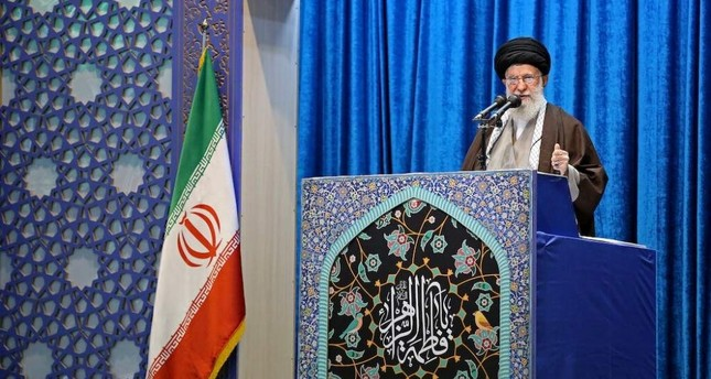 Iran's Supreme Leader Ayatollah Ali Khamenei delivers the Friday prayer sermon, Tehran, Jan. 17, 2020. REUTERS Photo