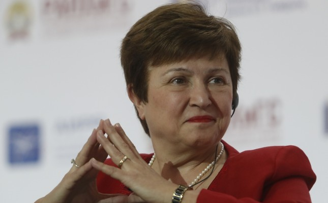 World Bank Chief Executive Officer Kristalina Georgieva attends a session of the Gaidar Forum 2018 Russia and the World: values and virtues in Moscow, Russia, Jan. 17, 2018. (Reuters Photo)