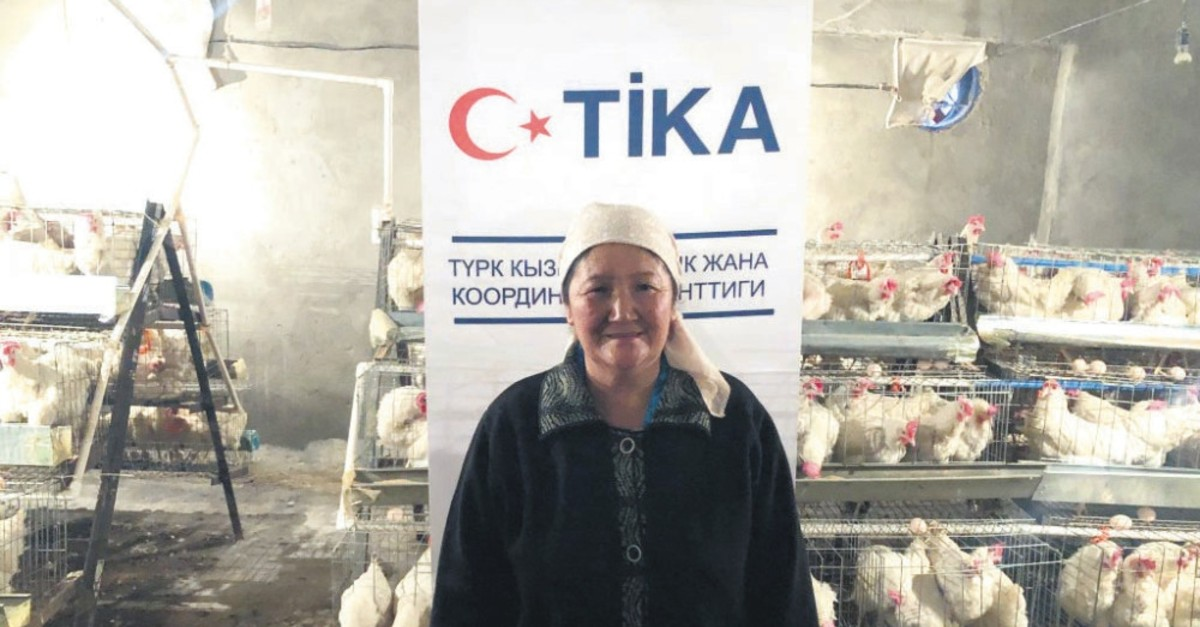 Suyunbubu Asankulova, a Kyrgyz woman, benefited from Tu0130KA's support for her poultry farm that helped her to expand the business.
