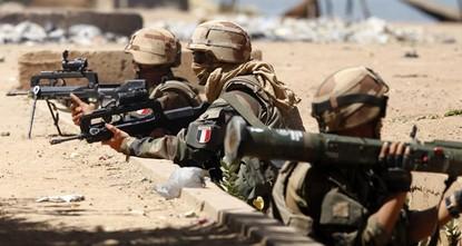Französische Artillerieunterstützung für YPG