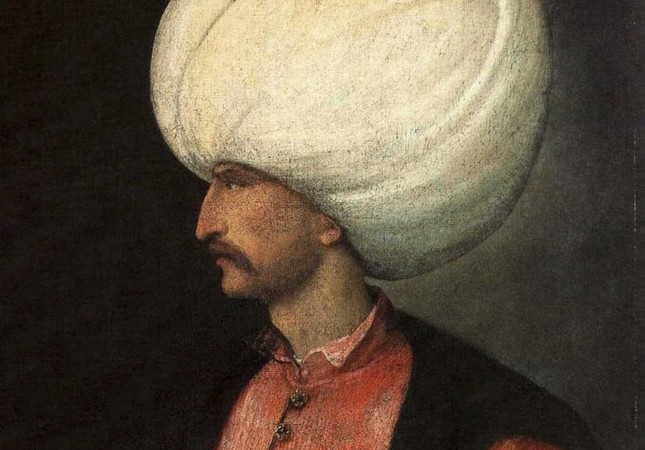 A portrait of Suleiman the Magnificent attributed to the Italian painter Titian.