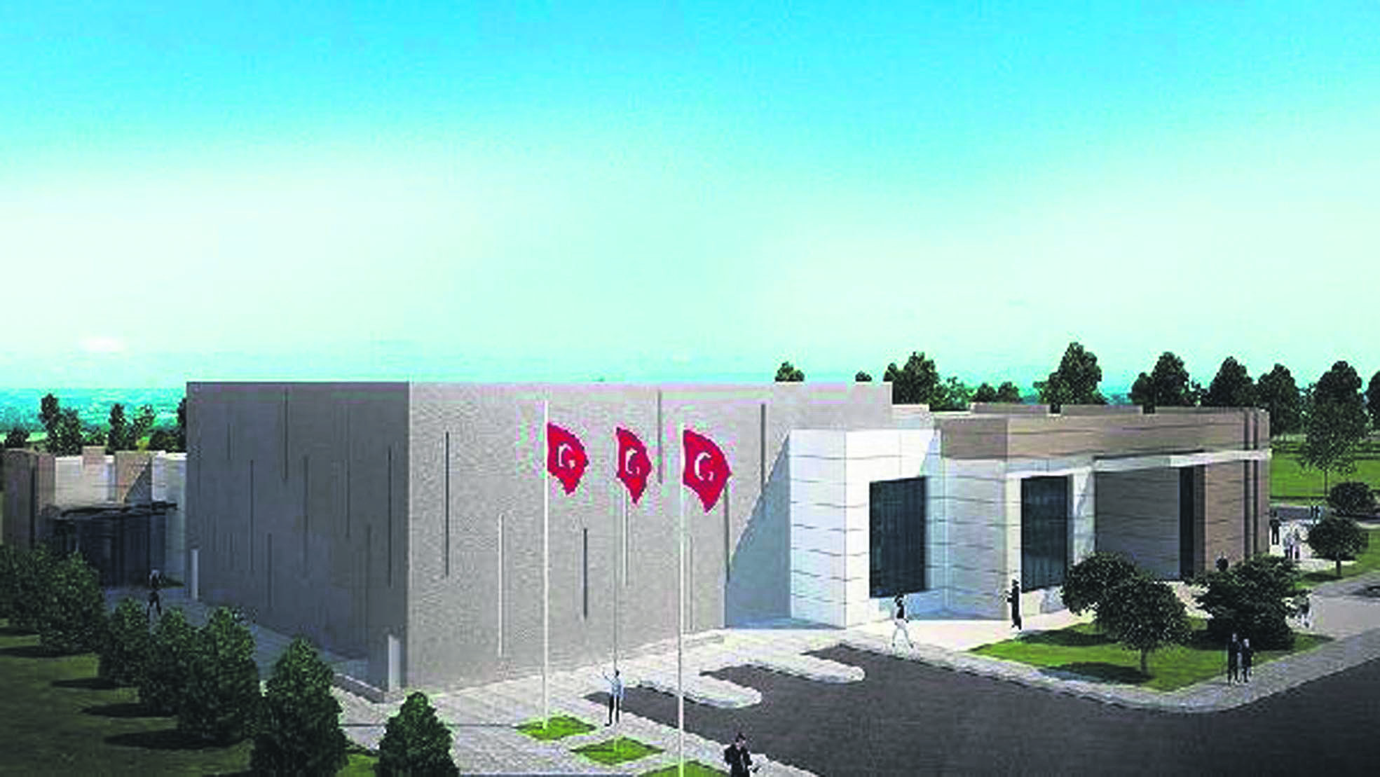 A model of the July 15 Martyrs and Democracy Museum, currently being built in Kahramankazan, Ankara.