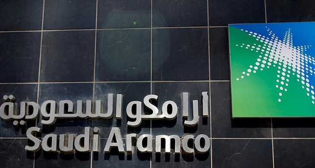 The logo of Saudi Aramco is seen at Aramco headquarters in Dhahran, Saudi Arabia. Picture taken May 23, 2018. (Reuters Photo)