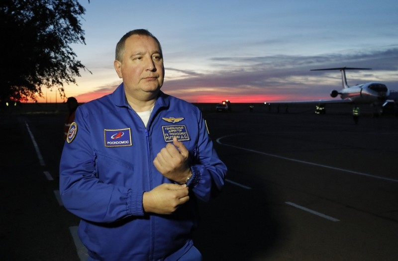 In this file photo taken on October 11, 2018 Dmitry Rogozin, the head of the Russian space agency Roscosmos (AFP Photo)