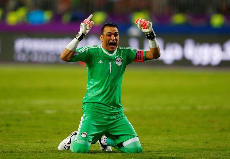 October 8, 2017   Egyptu2019s Essam El Hadary celebrates  (REUTERS Photo)