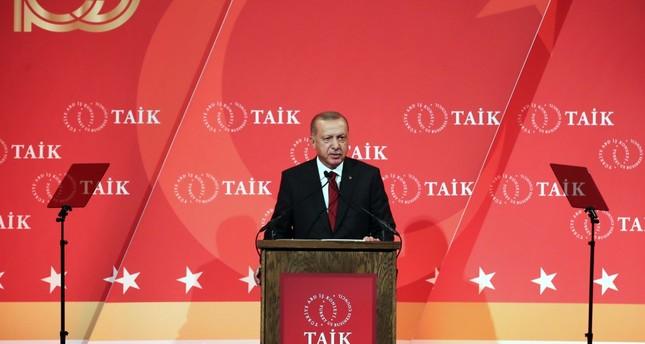 President Recep Tayyip Erdoğan speaks at the 10th Turkey Investment Conference, New York, Sept. 25, 2019.