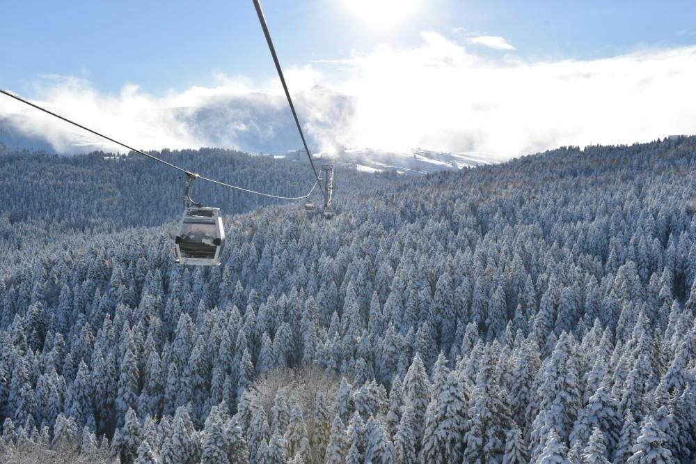 Bursa's Mt. Uludau011f is one fo the most popular places to go skiing in Turkey.