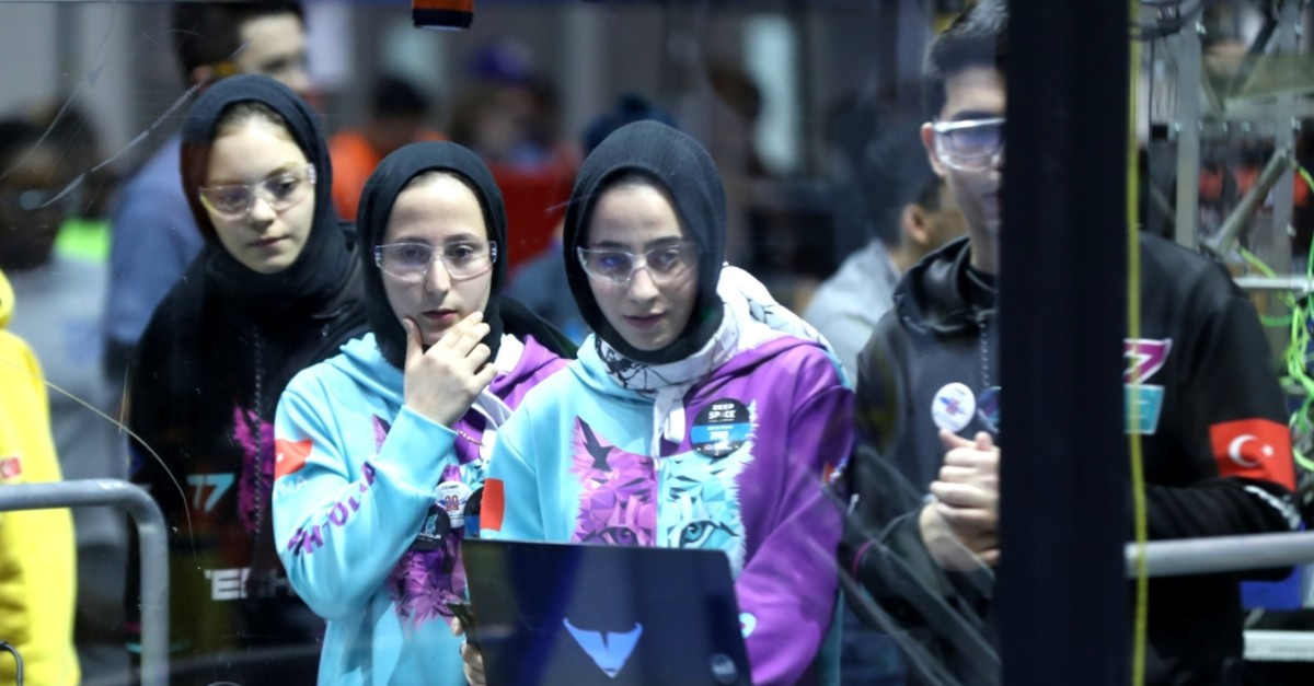 Students from imam hatip school is among Turkish teams competing in the contest.