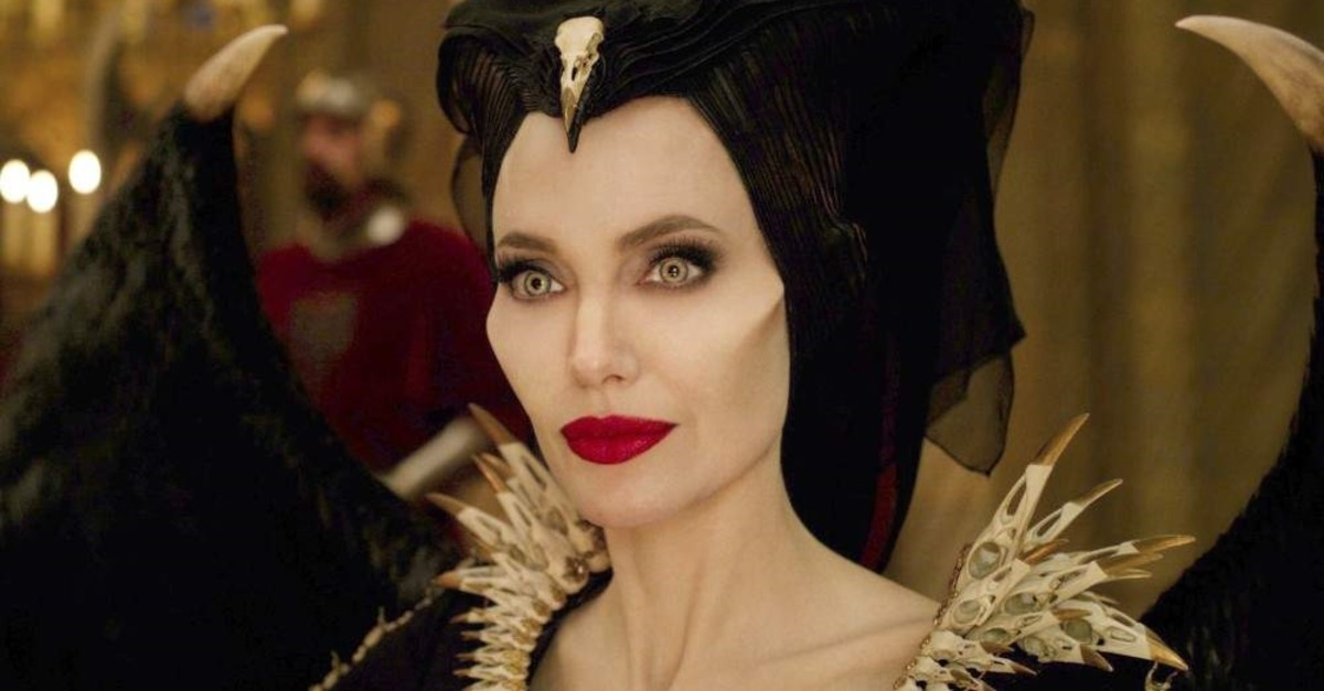 Angelina Jolie as Maleficent in a scene from ,Maleficent: Mistress of Evil.,