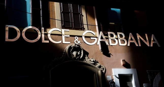 The logo of Dolce & Gabbana is seen in a shop in downtown Rome, Italy February 10, 2016. (Reuters Photo)