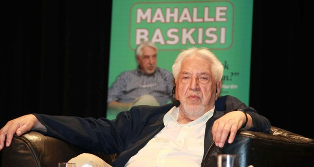 Şerif Mardin at a discussion about mahalle baskısı, peer pressure in English, at Cemal Reşit Rey Concert Hall, Istanbul, May 23, 2008.