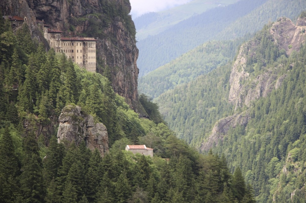The monastery offers stunning views of the evergreen forests that surround it and the ethereal beauty of nature.