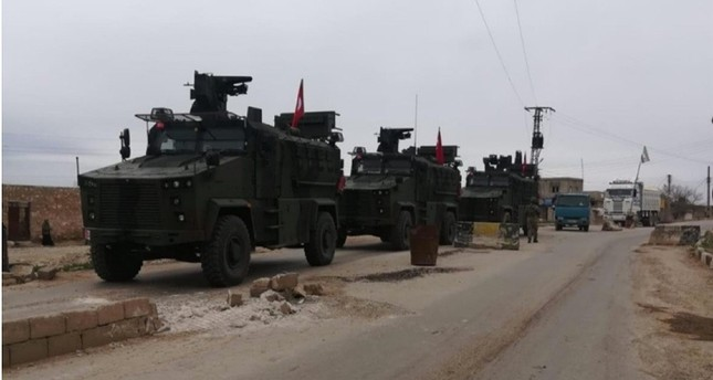 Turkish and Russian forces conducted the first independent, coordinated patrols in Syria's Tel Rifat area in March 2019. AA Photo