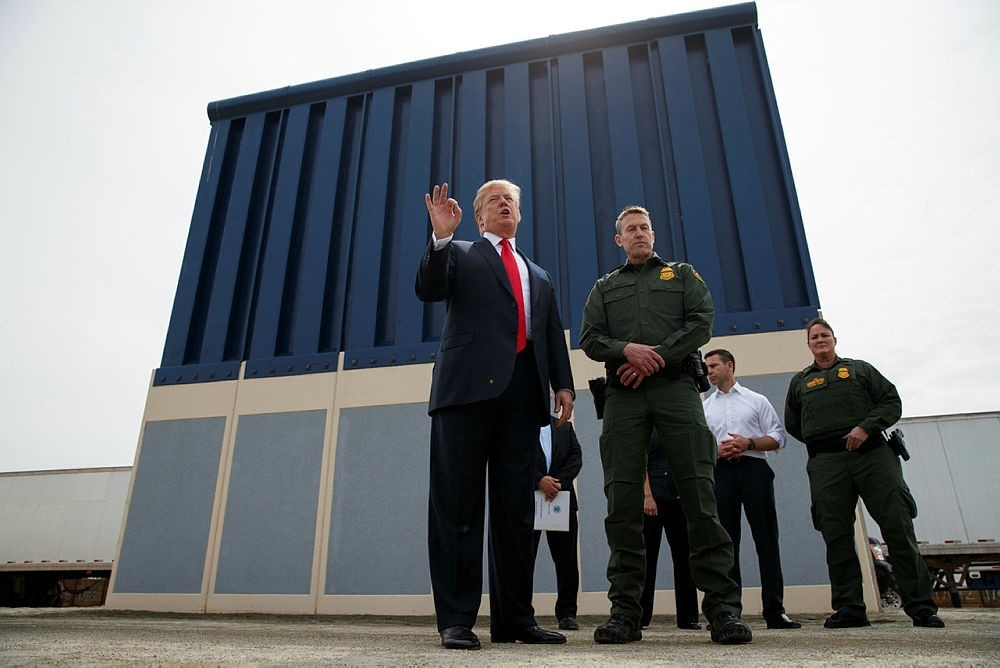 President Donald Trump said Tuesday he wants to use the military to secure the U.S.-Mexico border until his promised border wall is built.  Speaking at a lunch with Baltic leaders, Trump said he's been discussing the idea with his Defense Secretary,