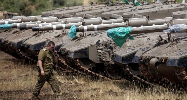 دبابات الجيش الإسرائيلي في الجانب المحتل من الجولان