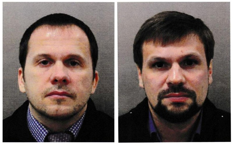 Alexander Petrov and Ruslan Boshirov are seen in an image handed out by the Metropolitan Police in London, Britain September 5, 2018. (Reuters Photo)