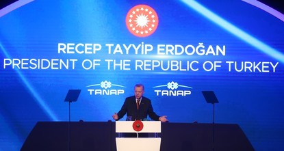 "أردوغان: خط أنابيب ""تاناب"" مشروع سلام إقليمي"