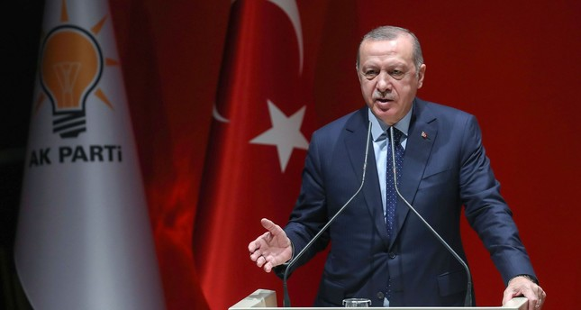 President Recep Tayyip Erdoğan addresses AK Party provincial heads at the party headquarters in Ankara, Jan. 11.