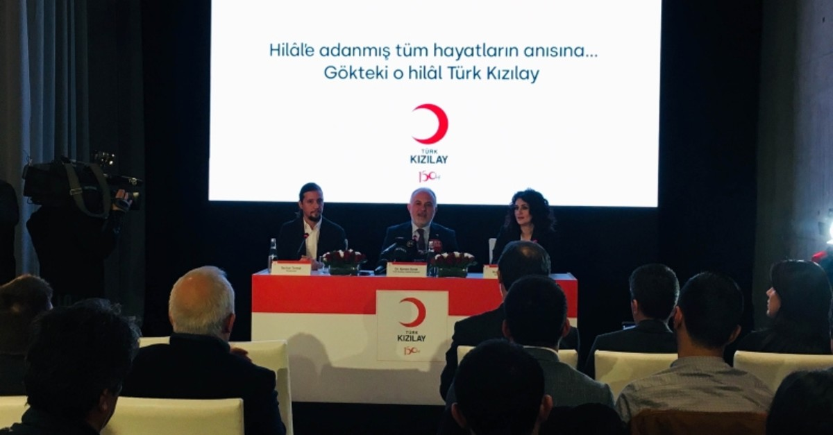 Turkish Red Crescent President Kerem Ku0131nu0131k speaking at the special ceremony marking 150th anniversary of the aid organization, April 16, 2019. (IHA Photo)