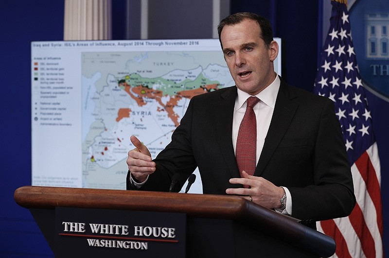 In this Dec. 13, 2016 file photo, Brett McGurk, White House envoy to the U.S.-led military coalition against Daesh, speaks about the conflict in Syria  (AP Photo)