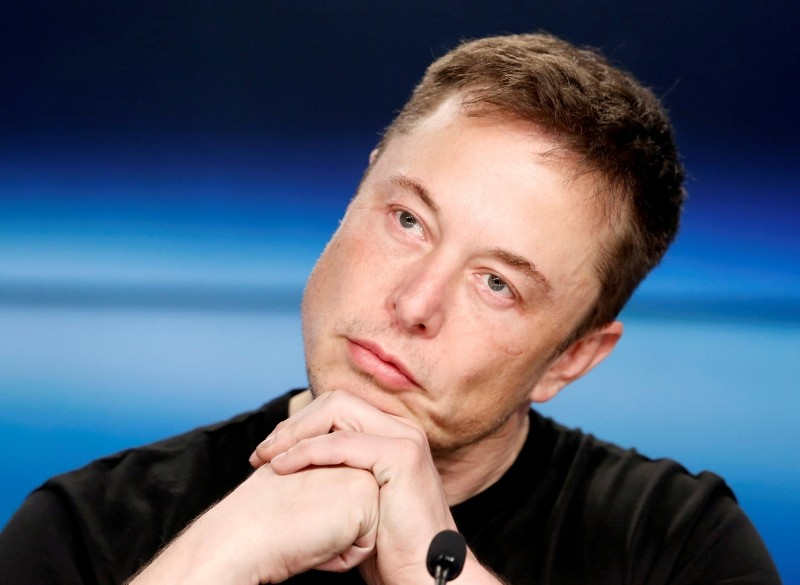Elon Musk listens at a press conference following the first launch of a SpaceX Falcon Heavy rocket at the Kennedy Space Center in Cape Canaveral, Florida, U.S., February 6, 2018. (Reuters Photo)