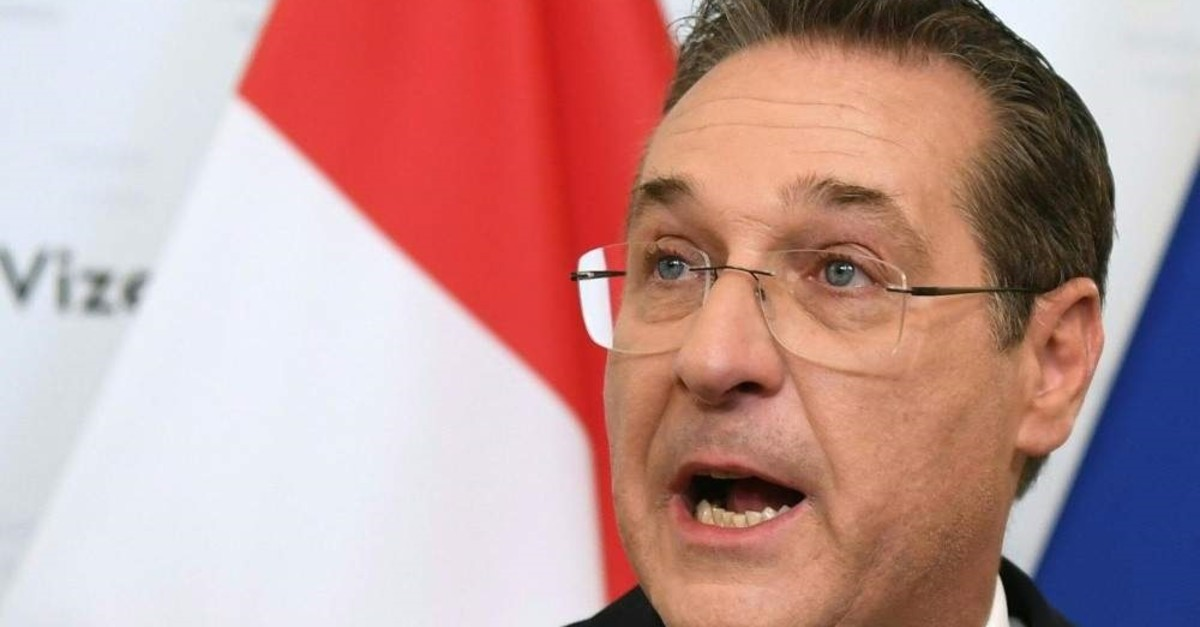 Austria's former Vice Chancellor Heinz-Christian Strache gives a news conference, Vienna, May 18, 2019. (AFP Photo)