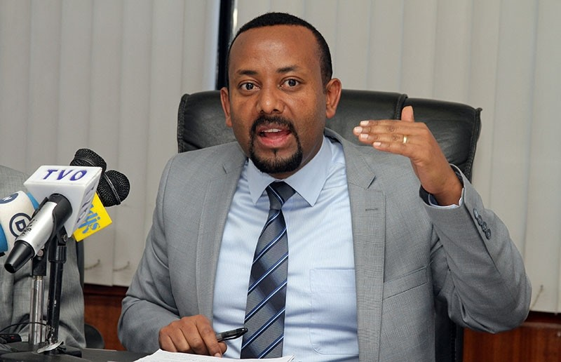 Abiy Ahmed addresses a news conference in Addis Ababa, Ethiopia December 4, 2015. Picture taken December 4, 2015. (Reuters Photo)