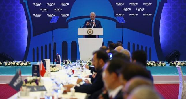 إفطار جماعي نظمته الجمعية في العاصمة أنقرة بحضور رئيس الوزراء بن علي يلدريم الخميس