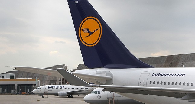This file photo taken on November 06, 2015 shows aircrafts of German airline Lufthansa parked at the airport in Frankfurt am Main, as the flight attendants' union UFO called a nine-hour strike (AFP Photo)