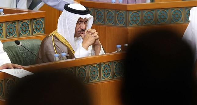 Kuwait Prime Minister Sheikh Jaber Al-Mubarak Al-Hamad Al-Sabah attends the opening ceremony of the new legislative year at the National Assembly in Kuwait City, on October 24, 2017 (AFP Photo)