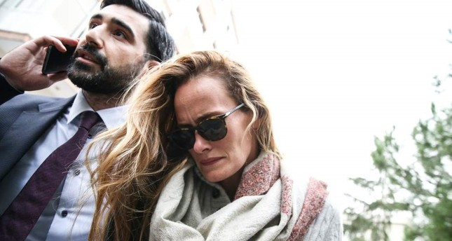 Le Mesurier's wife Emma Winberg drew suspicion for her contradicting statement to police. AA Photo