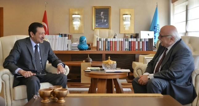 Turkey's Minister of Culture and Tourism Nabi Avcı welcomed Saudi Arabia's ambassador to Ankara, Waleed Elkereji.