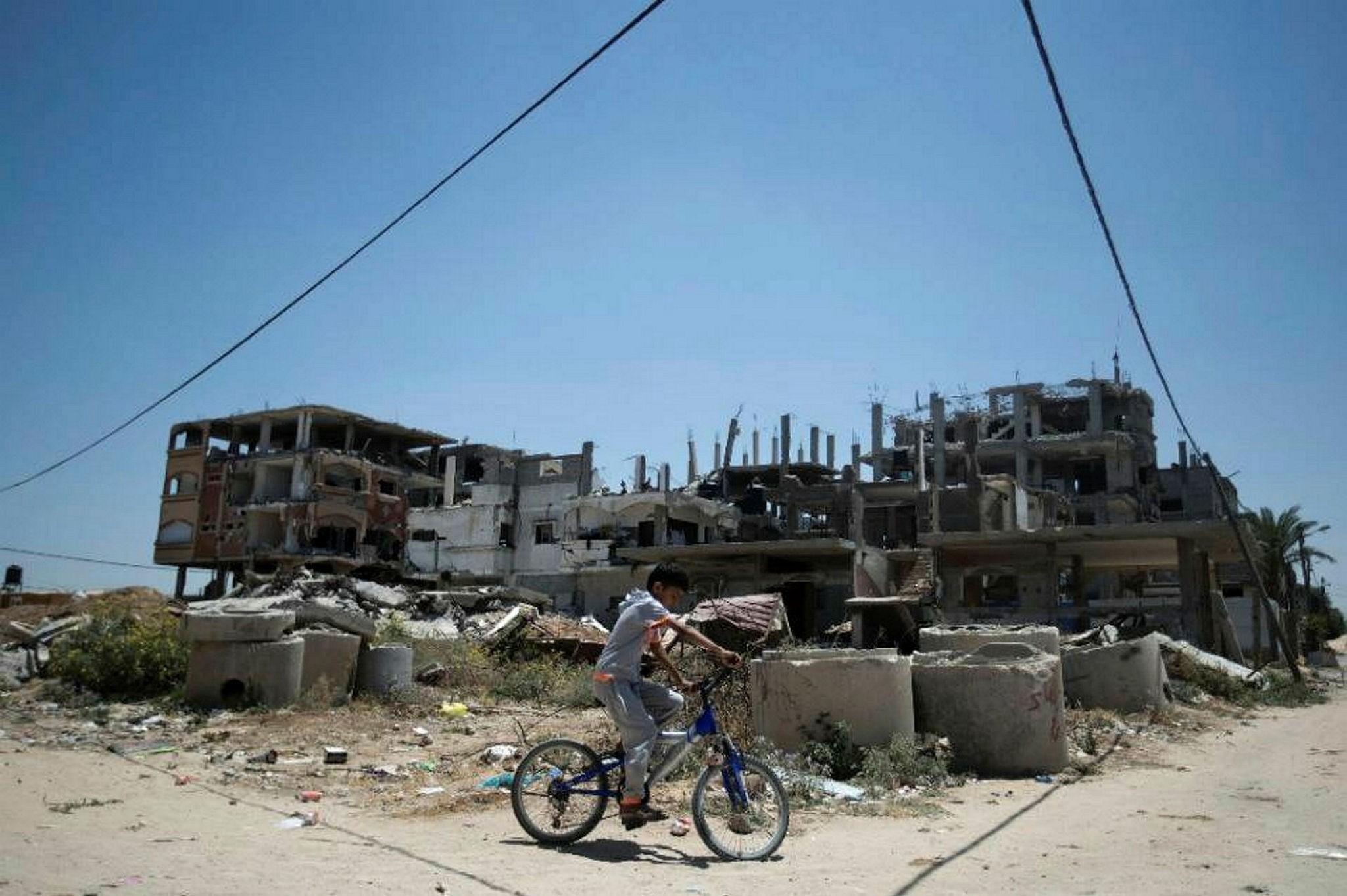 Palestinian children locked inside Gaza suffer from growing humanitarian crisis.