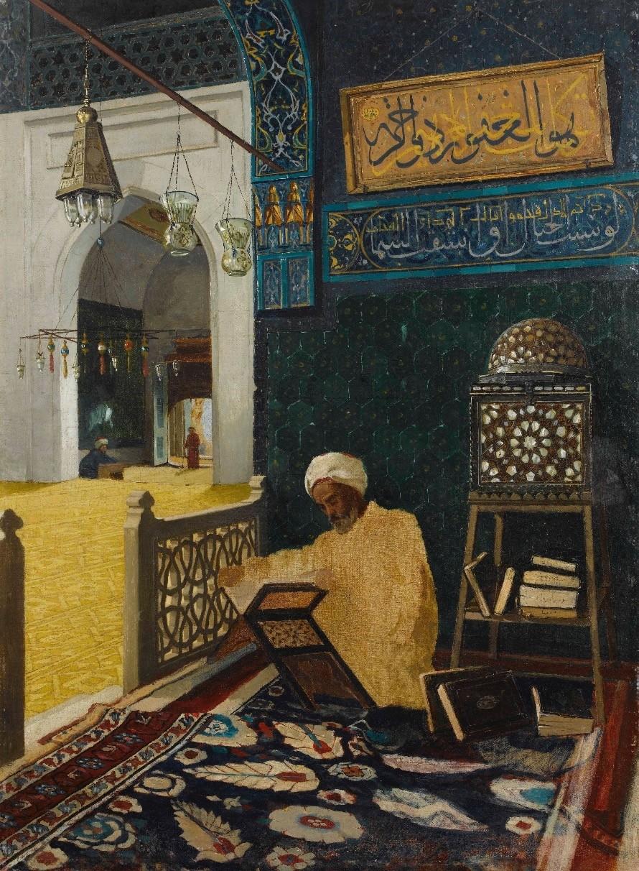 Osman Hamdi Bey, u201cHodja Reading the Quran,u201d c.a 1907.