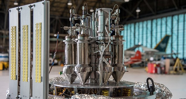 Mars fission power system concept in the Kilopower project is shown in this undated NASA handout photo released on January 9, 2018. (Reuters Photo)