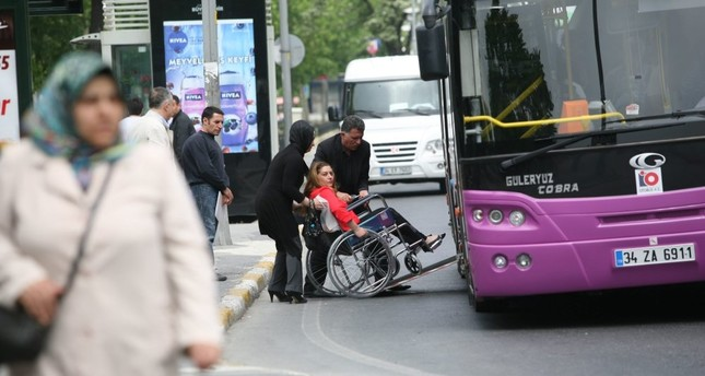 Turkey's disabled community comprises 12.9 percent of the total population.