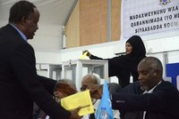 A former prime minister who holds dual Somali-U.S. citizenship has been declared Somalia's new president.  Incumbent President Hassan Sheikh Mohamud conceded defeat after two rounds of voting...