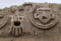3,800-year-old wall relief of heads, snakes discovered in Peru