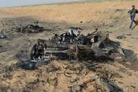 موقع استهداف الإرهابي يحيى دومان مسؤول بي كا كا في مخمور-كركوك DHA