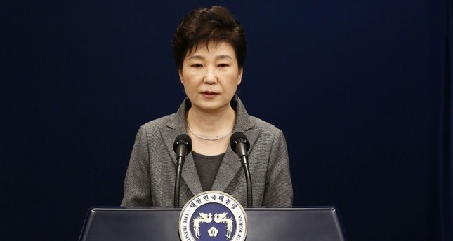 This file photo taken on November 29, 2016 shows South Korean President Park Geun-Hye speaking during an address to the nation at the presidential Blue House in Seoul. (AFP Photo)