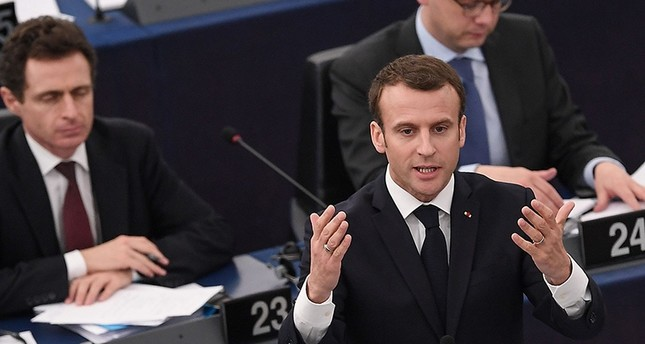 rench President Emmanuel Macron speaks before the European Parliament on April 17, 2018 in the eastern French city of Strasbourg (AFP Photo)