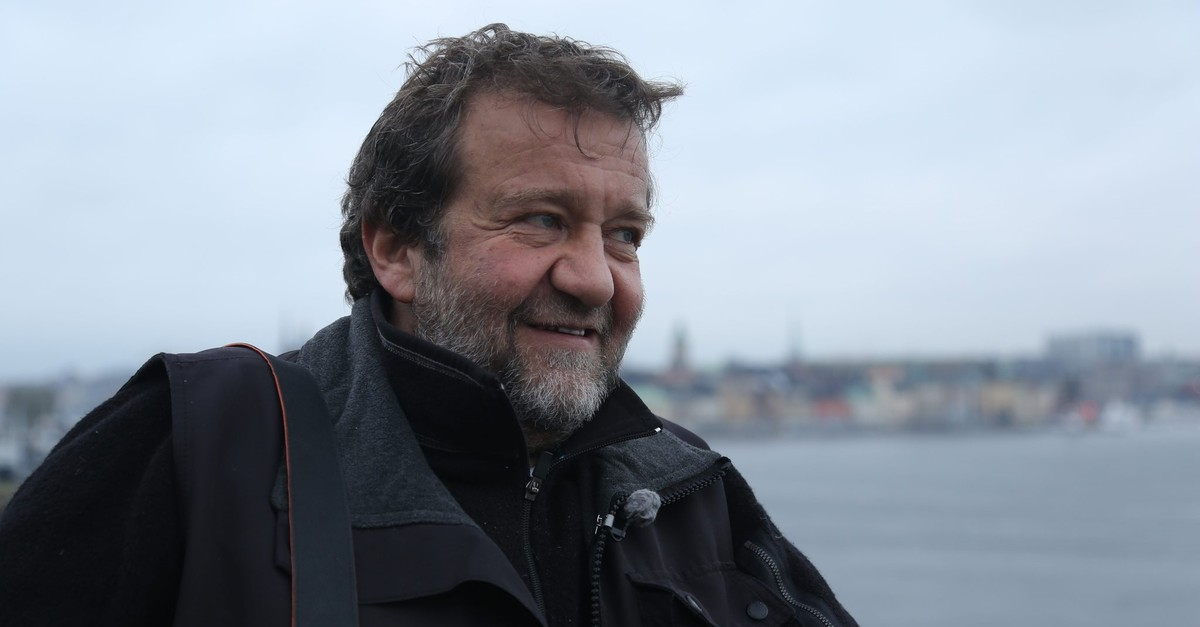 This file photo from 2012 shows Cou015fkun Aral in Sweden, where he was interviewed for a documentary series. (Sabah Photo)