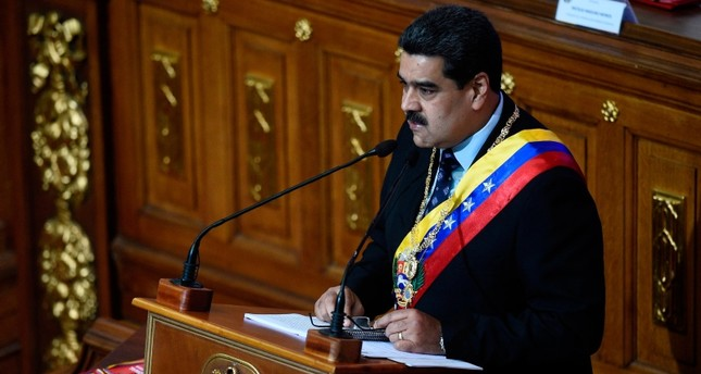 Venezuelan President Nicolas Maduro speaks before the Constituent Assembly to announce measures to alleviate the serious economic crisis, at the Federal Legislative Palace in Caracas on January 14, 2019. (AFP Photo)
