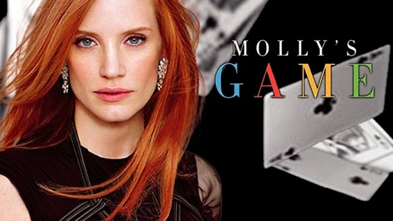 The film stars Jessica Chastain as the former Olympic skier Molly Bloom, who went on to run one of the largest high-stakes poker games in the United States.