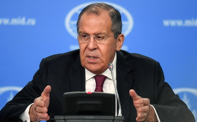 Russian Foreign Minister Sergey Lavrov gives his annual press conference in Moscow on January 16, 2019. (AFP Photo)
