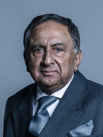 Official portrait of Lord Sheikh from U.K. Parliament