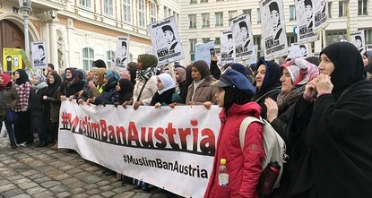 pPlanned government restrictions for full-face veils and headscarves drew some 2,000 protesters to the streets in central Vienna on Saturday, according to police.br / br / The Muslim groups that...