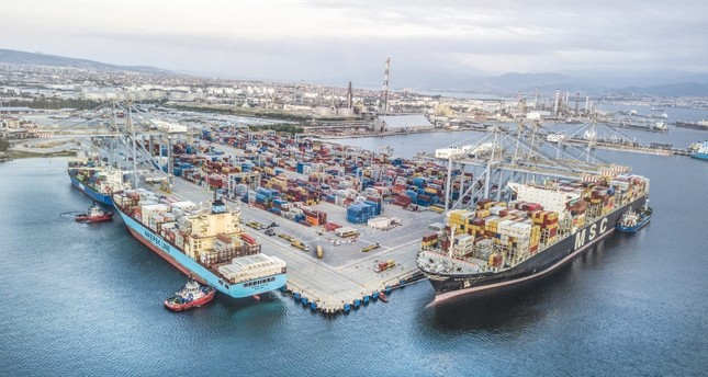 The file photo dated Feb. 11, 2019 shows the DP World Yarımca port in northwestern Kocaeli province. IHA Photo